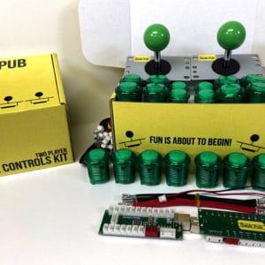 Arcade Control Kit 2-Player LED Green/Green