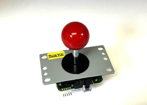 Red Arcade Joystick by The Geek Pub