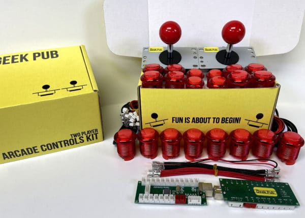 Arcade Control Kit 2-Player LED Red/Red