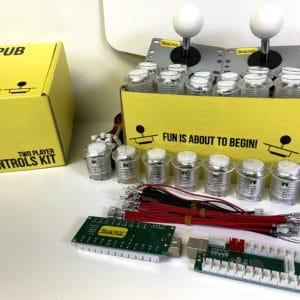Arcade Control Kit 2-Player LED White/White