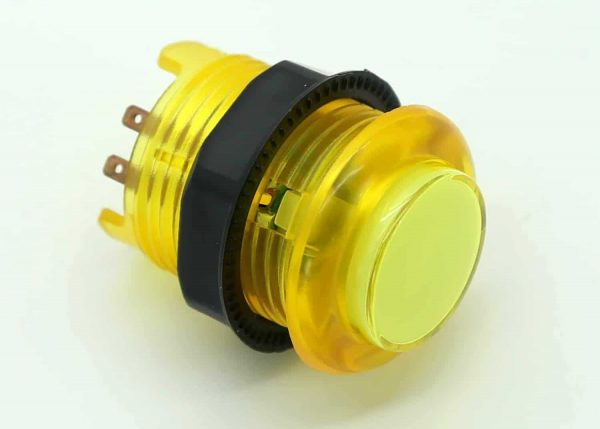 Yellow LED Lit Arcade Button by The Geek Pub