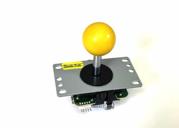 Yellow Arcade Joystick by The Geek Pub