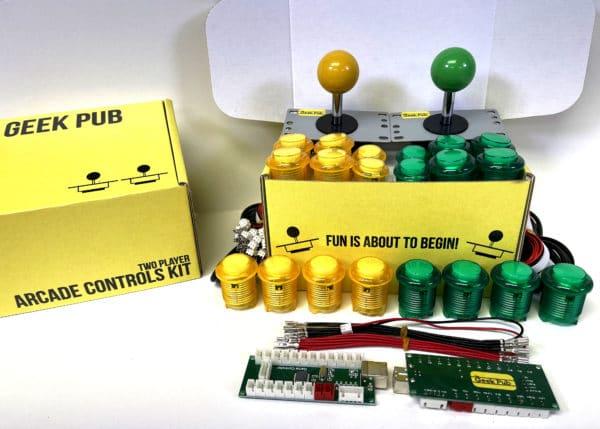 Arcade Control Kit 2-Player LED Yellow/Yellow