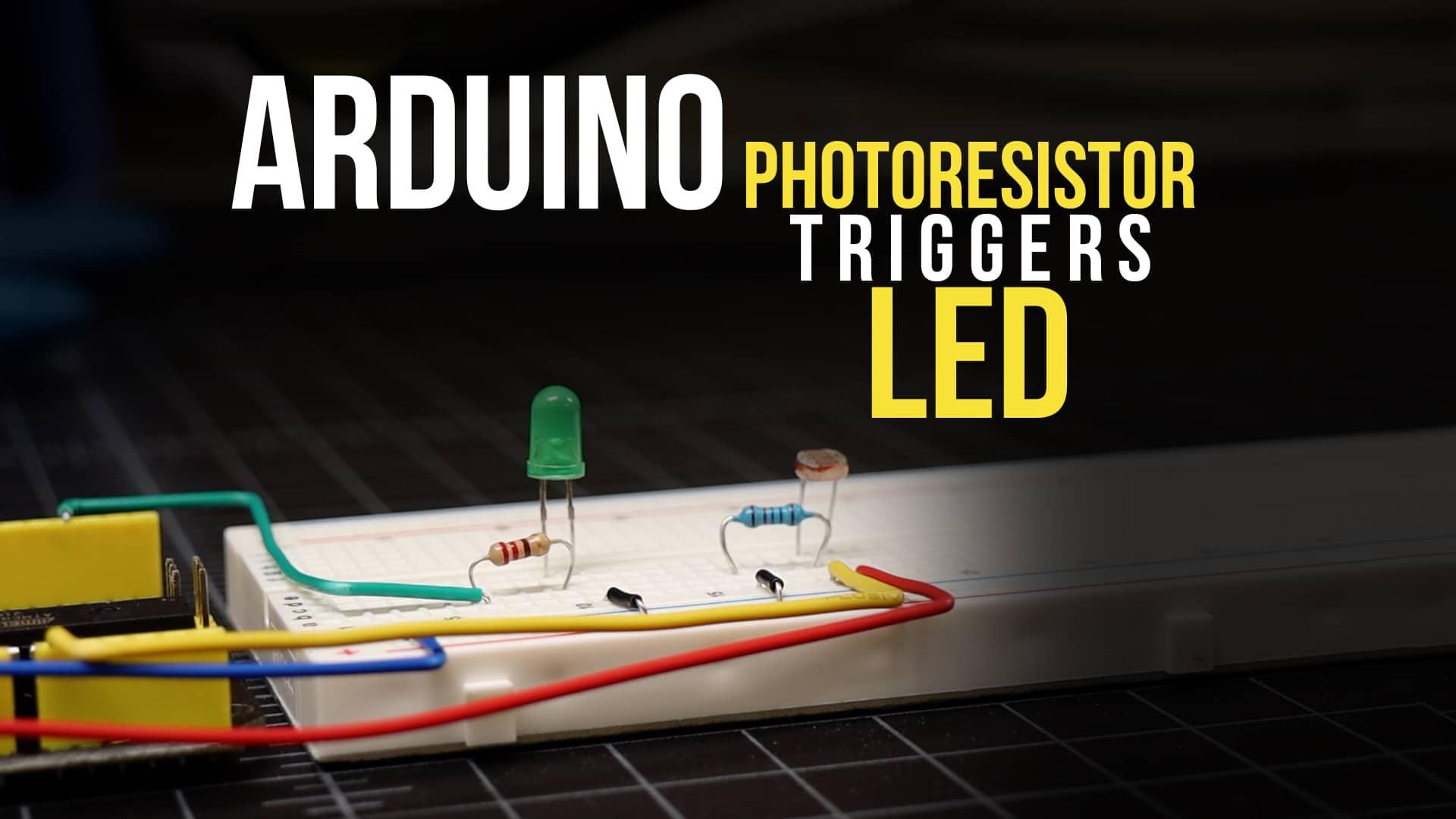 Light Sensor Trigger LED (photoresistor triggers LED)