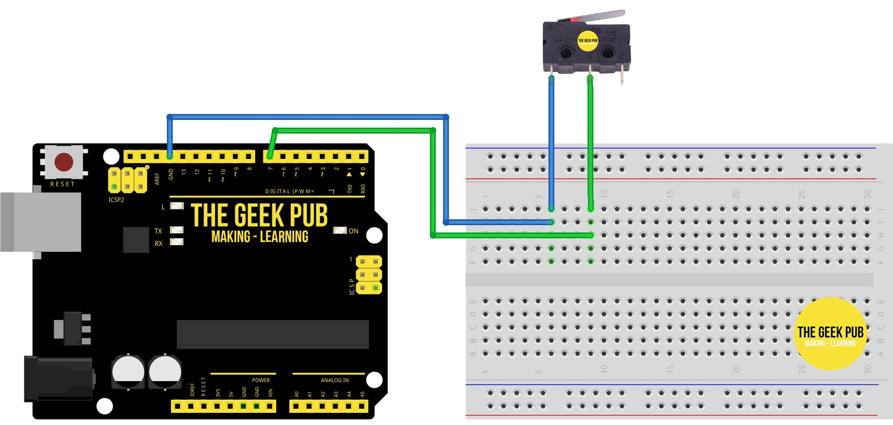 Arduino Limit Switch Normally Open Wiring