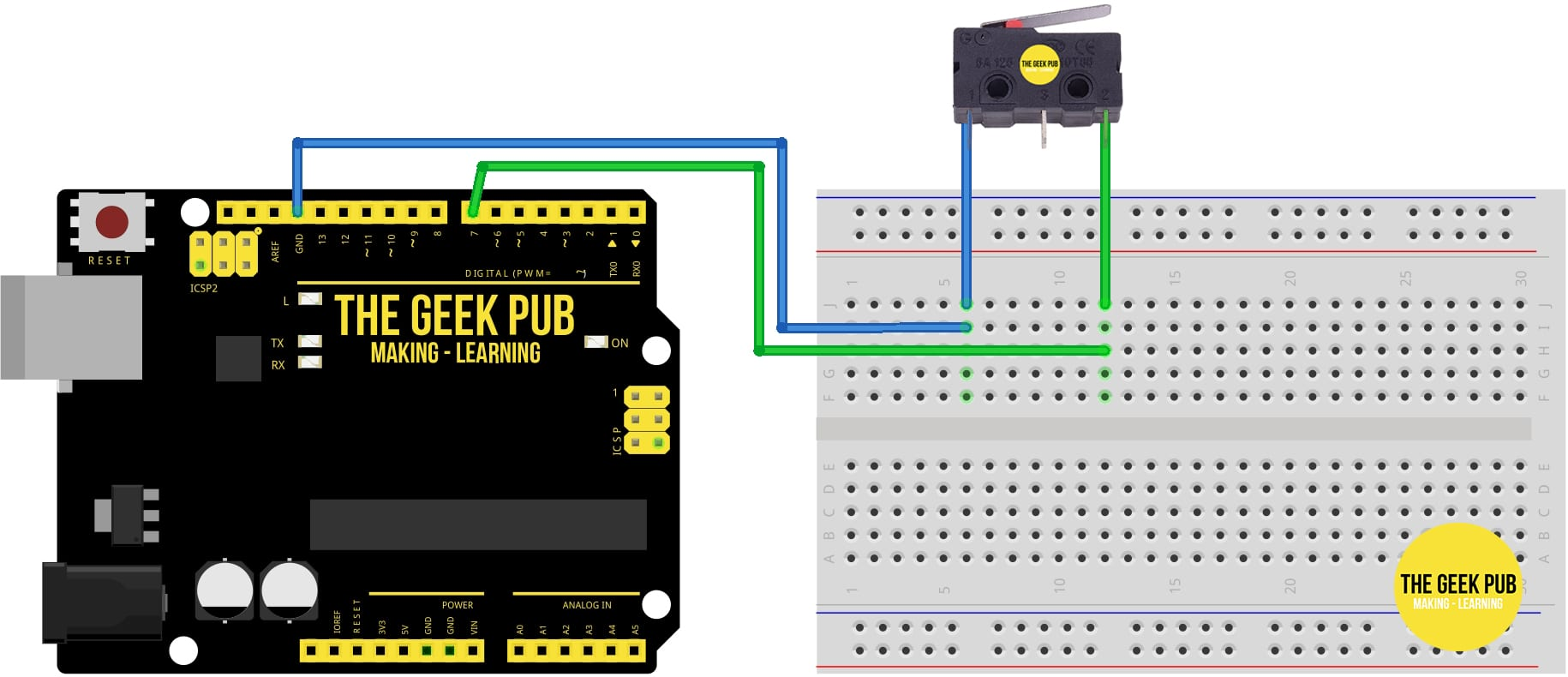 Arduino Limit Switch Normally Closed Wiring
