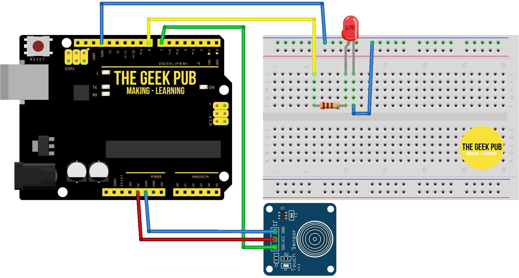 Arduino Touch Sensor Wiring Diagram