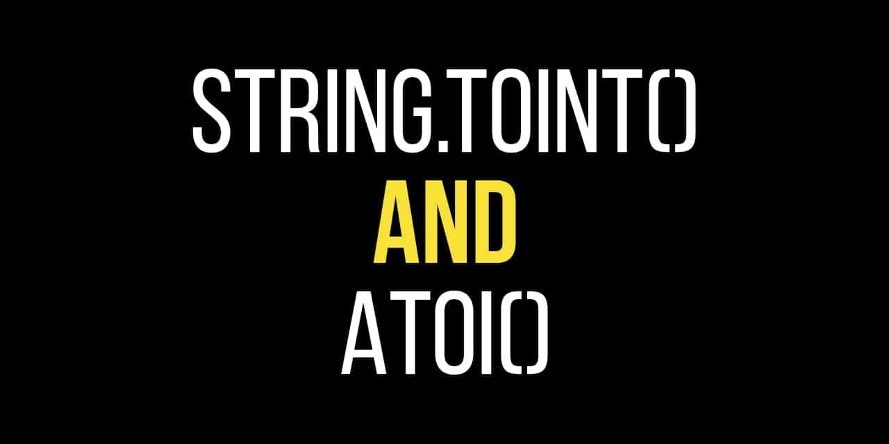 Convert a String to an Integer
