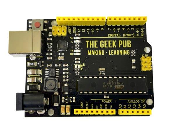 The Geek Pub Uno (Arduino Clone) Top