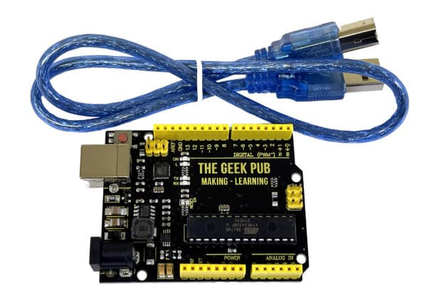The Geek Pub Uno (Arduino Clone) with Cable