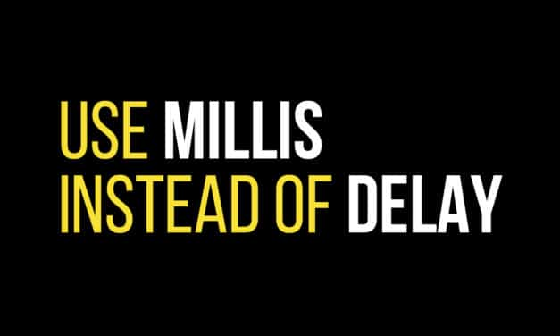 How to use millis Instead of Delay